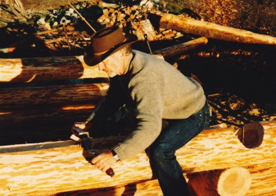 B. Allan Mackie with drawknife