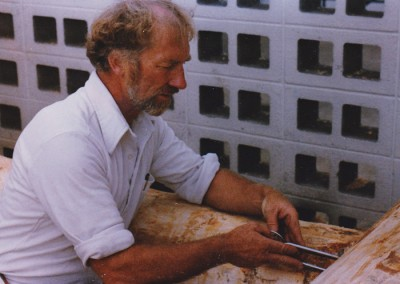 B. Allan Mackie with scribers (photo by William Wood)