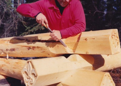 B. Allan Mackie, working on notches with Dogwood